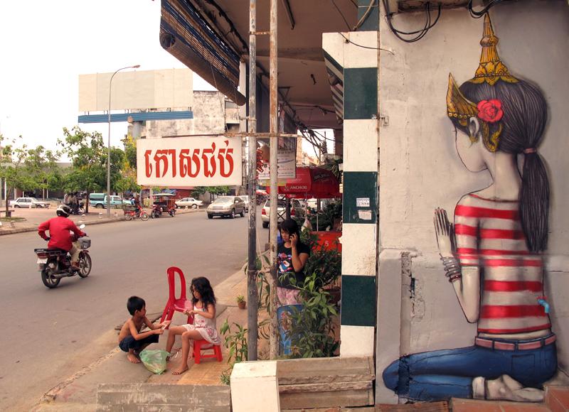 Seth Globepainter - Pnhom Penh, Cambodia - unurth | street art