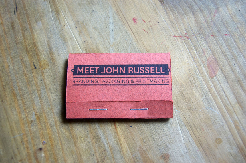 Business matchbooks meet john russell branding packaging handmade personal matchbook business cards colourmoves