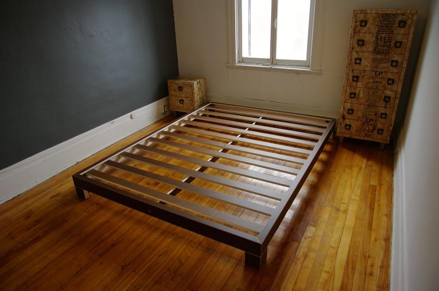 Base Lit Double En Bois : Backing bed – L'autre Atelier – ?b?niste ? Montr?al
